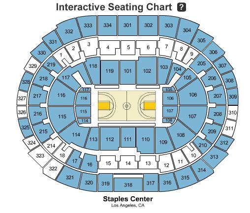 Lakers game seating chart people davidjoel co