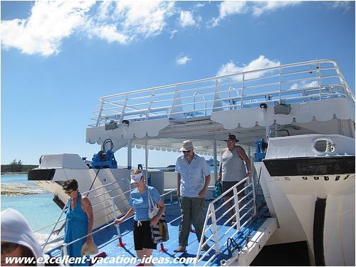 Great Stirrup Cay Bahamas Tendering ashore