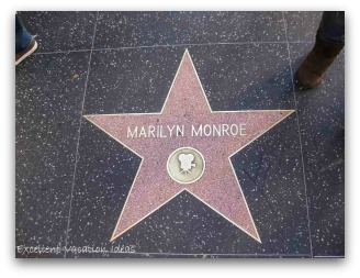 Hollywood and Highland - Marilyn Monroe's Star on the Hollywood Walk of Fame