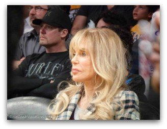 Dyan Cannon at the Lakers Game