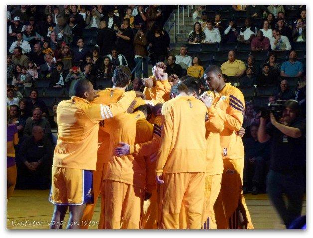 Lakers Game Huddle