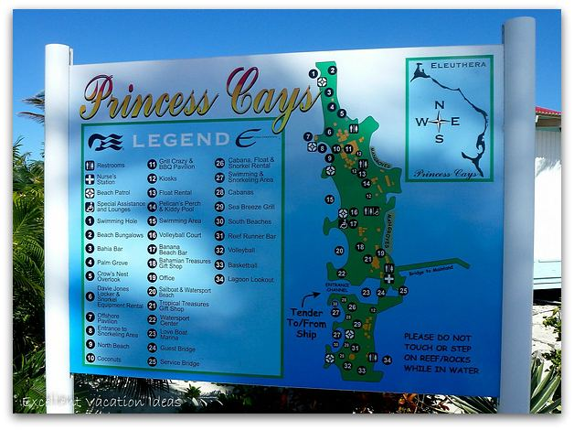 Princess Cays Bahamas Map