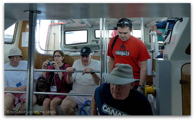 On Board the Tender going to Princess Cays Bahamas