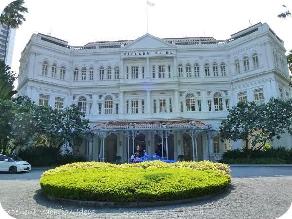 The beautiful Raffles Hotel in Singapore