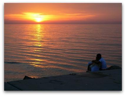 Romantic Travel Destinations - sunset at the beach
