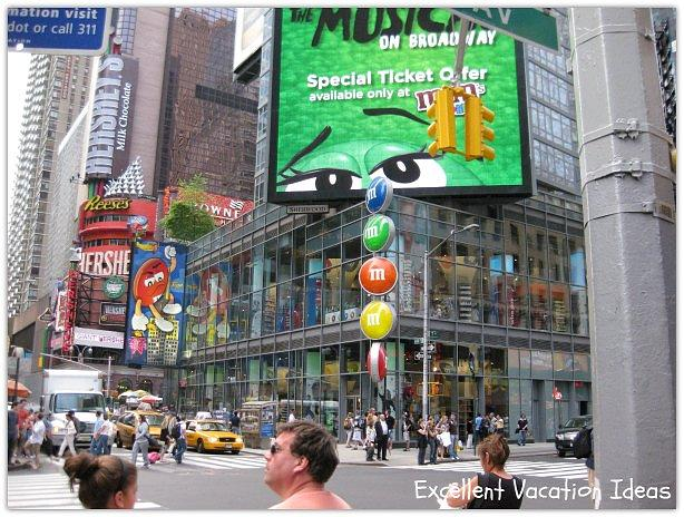 M&M store in Times Square New York