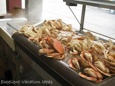 Yummy Crab at a Street Stall