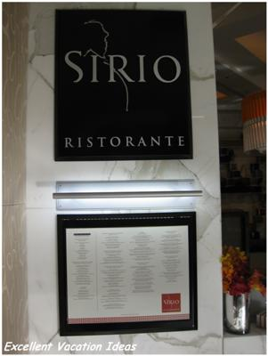 Sirio Restorante at the Las Vegas City Center