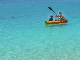 Kayaking off Cat Island