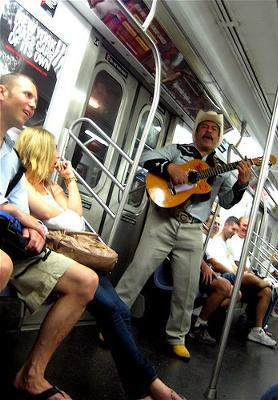 Buskers on the New York City Subway